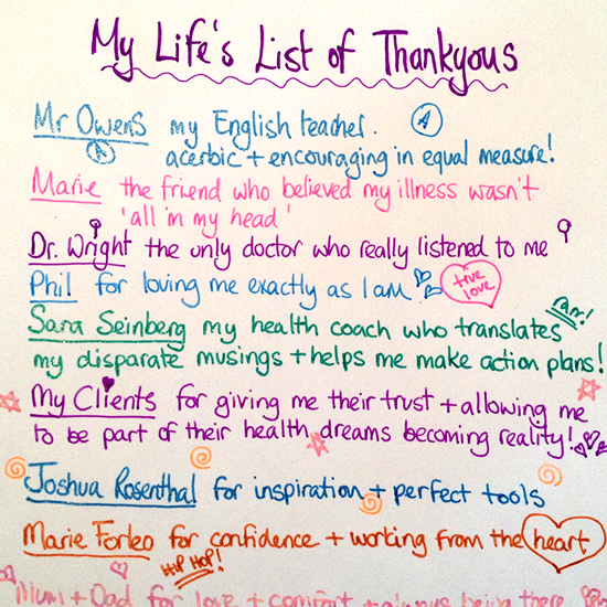 my oscar thankyou list