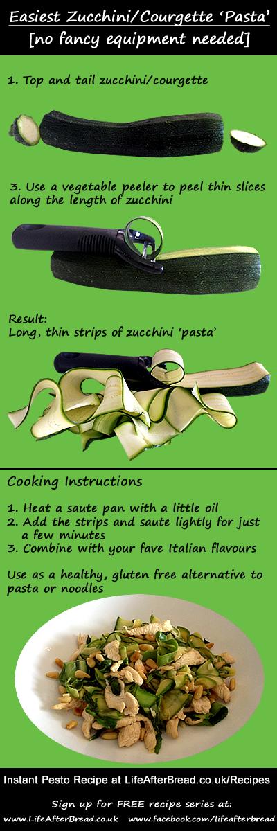 how to make zucchini courgette pasta