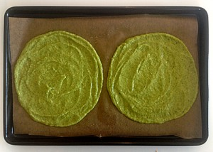 grain free broccoli wraps on baking sheet