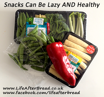 healthy snack idea - packs of vegetables