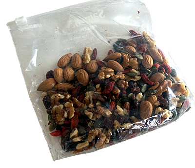 healthy snack idea - home-made trail mix